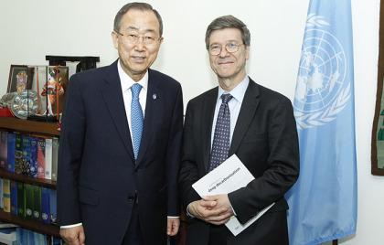 Secretary-General Meets UN Special Adviser on MDGs