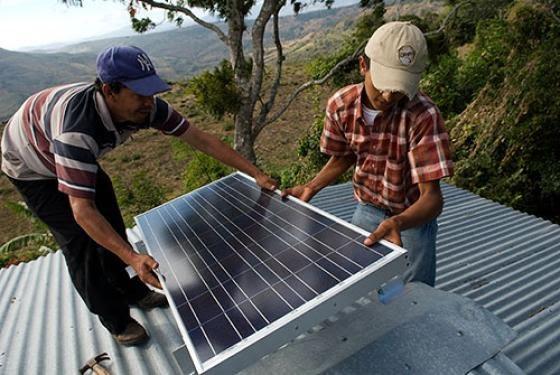 nicaragua solar install